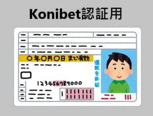 コニベット 免許証提出方法