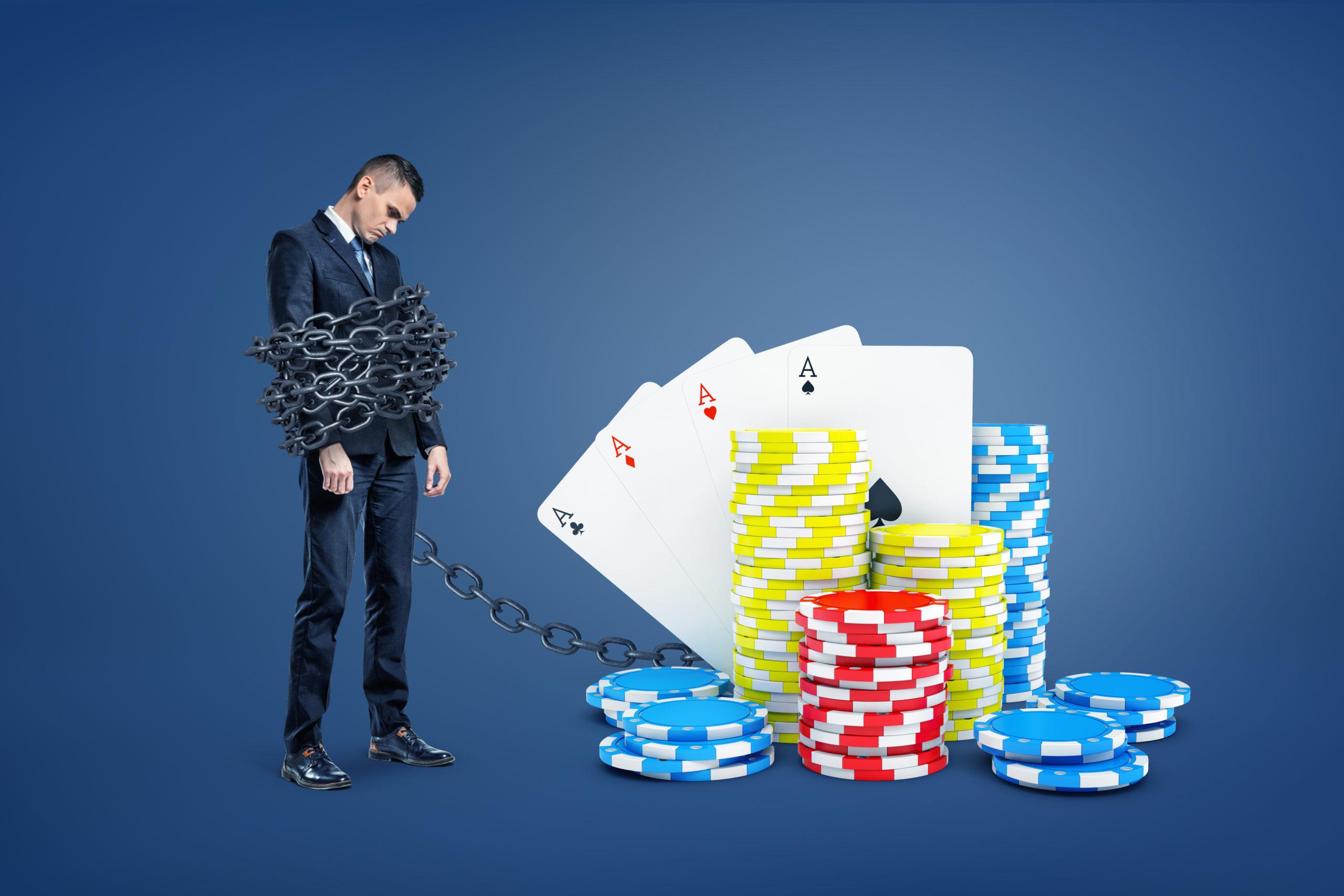 ギャンブル依存症の男性
