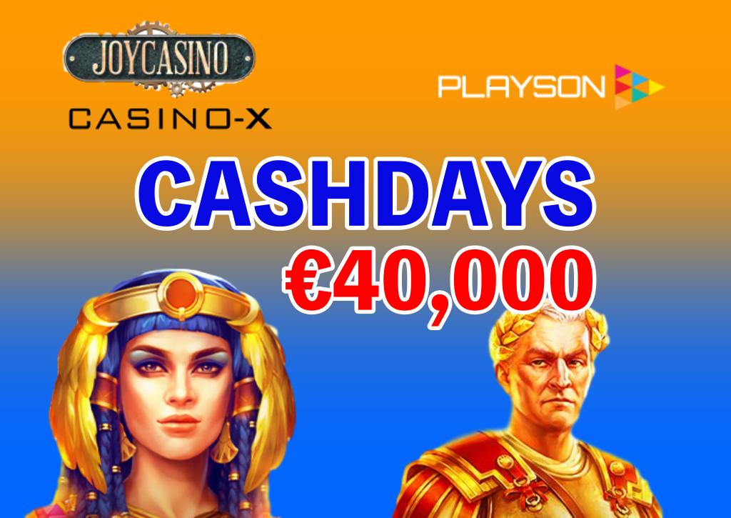 【賞金総額€40,000】Playson社のキャッシュ・デーが開催|上位200名までに賞金進呈!