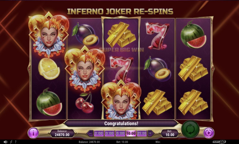 Inferno Jokerのプレイ画面