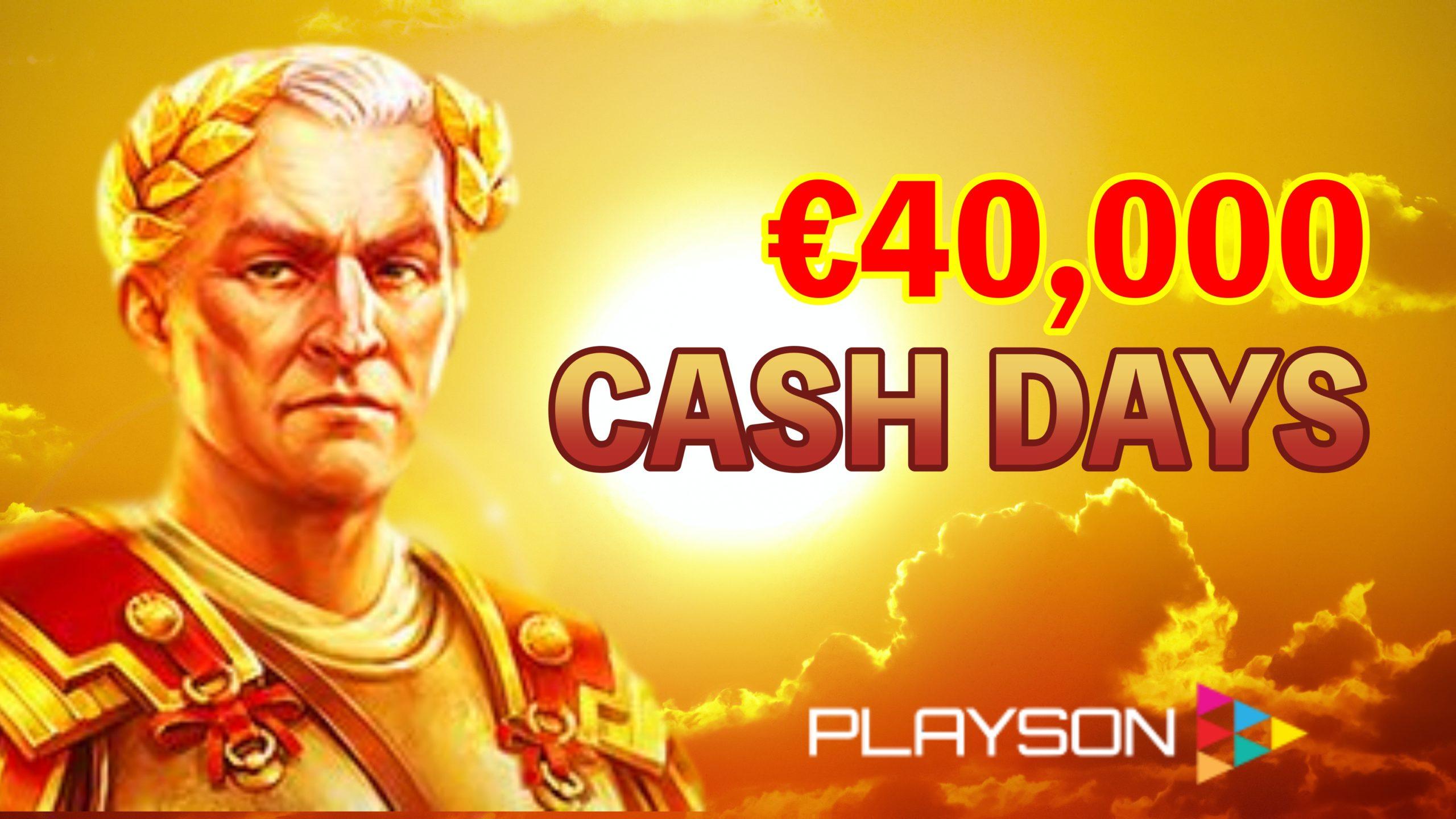 Playson社のキャッシュ・デーが今月も開催|賞金総額€40,000が上位200名までに賞金進呈!