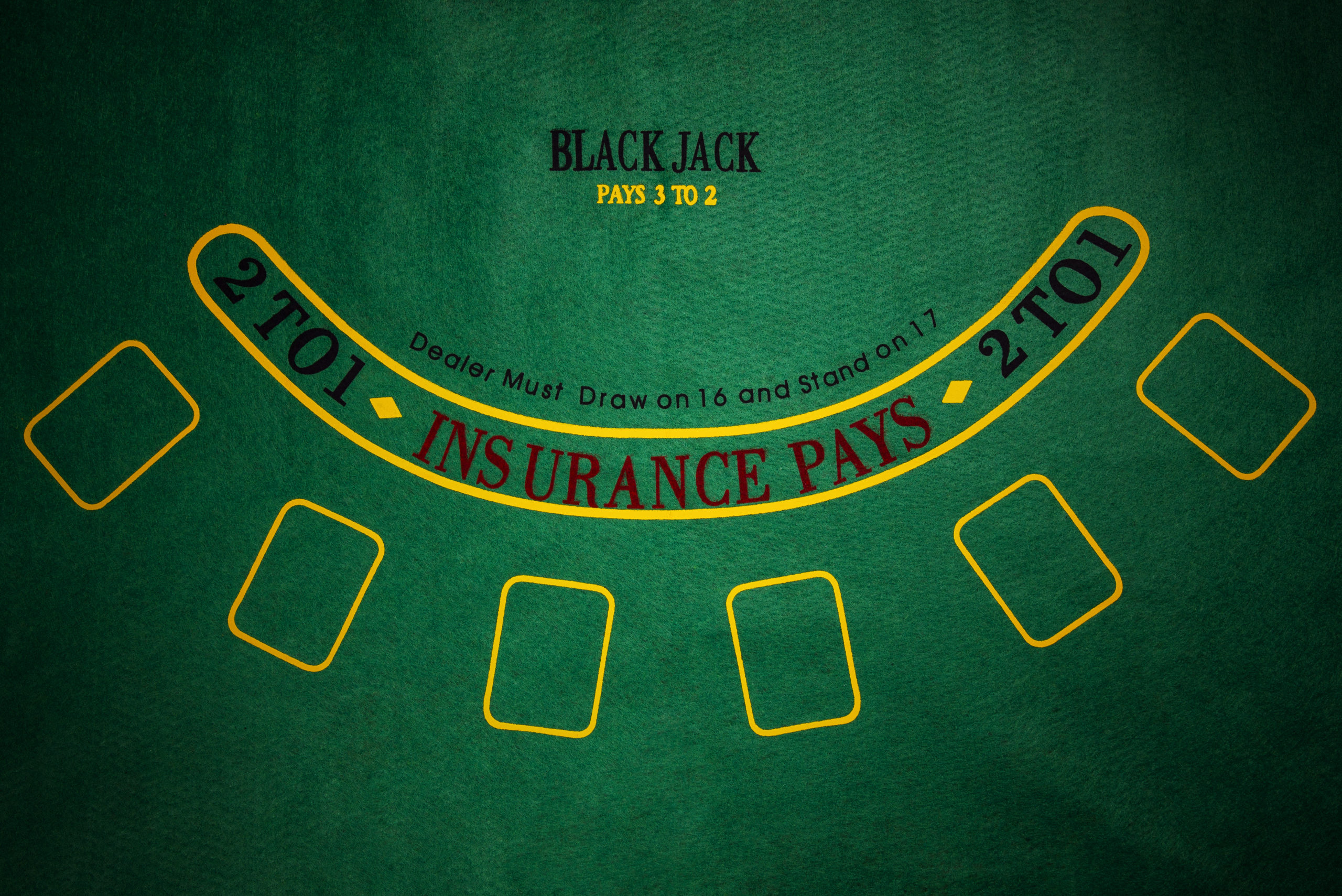 ブラックジャックのテーブル
