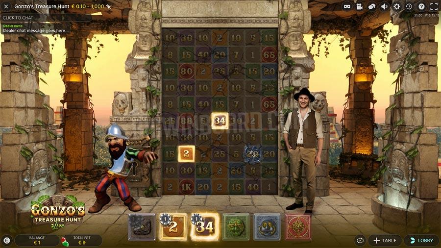 Gonzo's Treasure Hunt Live